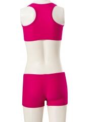 Fuşya Çocuk-Garson Likra Badili Şortlu Bikini