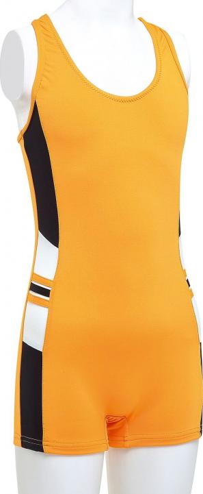 Çeşitli/Sarı Çocuk-Garson Düz Modelli Paçalı Mayo