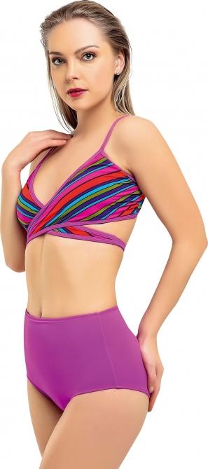 Yüksek Bel Çapraz Bağlamalı Bikini