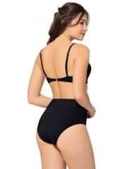 Siyah Düz Renkli Geniş Yüksek Bel Bikini