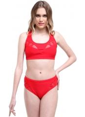 Kırmızı Büstiyerli Tüllü Bikini