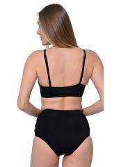 Siyah Tüllü Bağcıklı Yüksek Bel Bikini