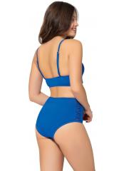 Saks Tüllü Detaylı Yüksek Bel Bikini