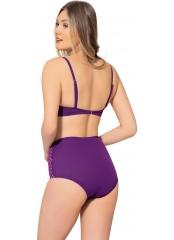 Mor Çizgili Sütyen Kaplı Modelli Bikini