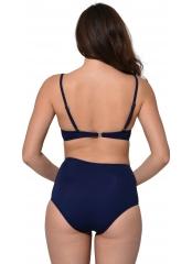 Lacivert Çizgili Sütyen Kaplı Modelli Bikini