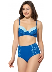 Saks Lazer Kesimli Sütyen Kaplı Modelli Bikini