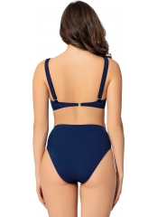 Lacivert Düz Kruvaze Bikini
