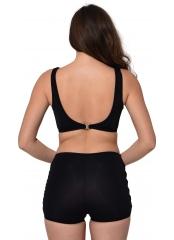 Siyah Tüllü Detaylı Şortlu Bikini