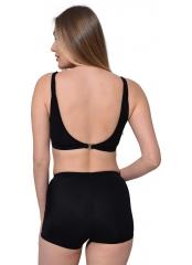 Siyah Tüllü Transparan Şortlu Bikini