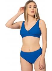 Saks Düz Kruvaze Büyük Beden Bikini