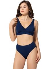 Düz Kruvaze Büyük Beden Bikini