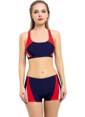 Lacivert Yeni Parçalı Şortlu Yüzücü Bikini