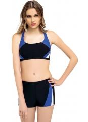 Siyah Yeni Parçalı Şortlu Yüzücü Bikini