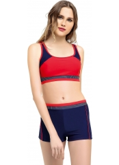 Lacivert Modelli Şortlu Yüzücü Bikini