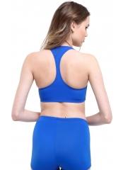 Saks Çizgili Modelli Şortlu Yüzücü Bikini