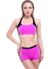 Pembe Çizgili Modelli Şortlu Yüzücü Bikini