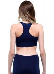 Lacivert Modelli Şeritli Şortlu Yüzücü Bikini