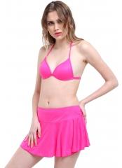 Düz Kaplı Etekli Bikini