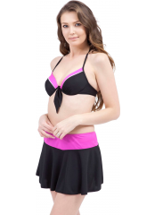 Siyah Modelli Fiyonklu Etekli Bikini
