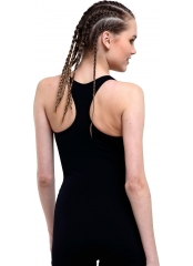 Siyah-Pembe Yatay Desenli Şortlu Yüzücü Mayo