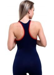 Lacivert Modelli Şortlu Yüzücü Mayo