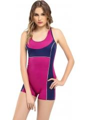 Fuşya Modelli Şortlu Yüzücü Mayo