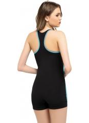 Siyah Modelli Şortlu Yüzücü Mayo
