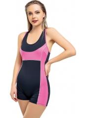 Antrasit Modelli Şortlu Yüzücü Mayo