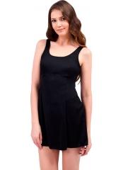 Siyah Düz Büyük Beden Elbise Mayo