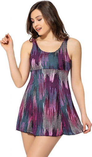 Desenli Büyük Beden Elbise Mayo