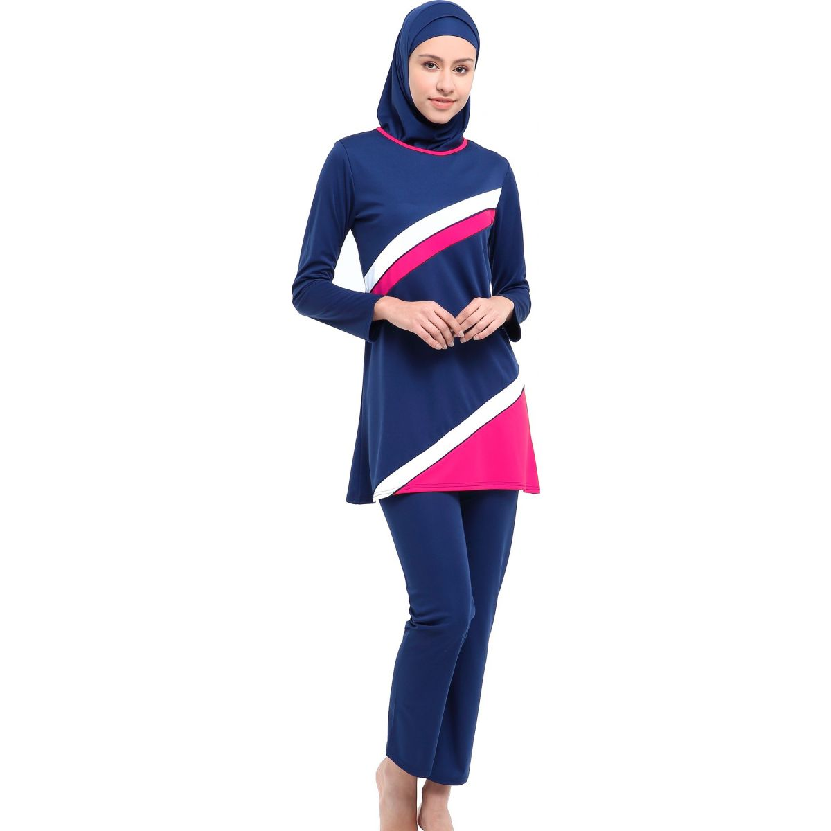 Argisa 7013 Long Sleeved Baggy The Tights Plus Size Full Hijab swimwear 46-52 Muslim Hijab Islamic Swimsuit Burkini Turkey Full Cover swim