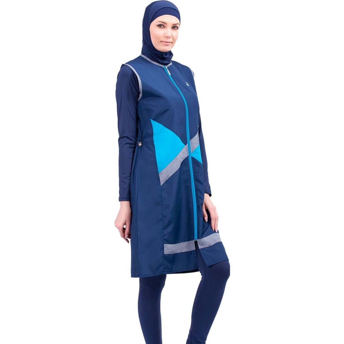 Argisa 7118 Jileli The Tights Long Plus Size Full Hijab SWIMWEAR 3XL-5XL Muslim Hijab Islamic Swimsuit Burkini Turkey Full Cover Swim